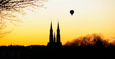 Luftballong för två i Stockholm